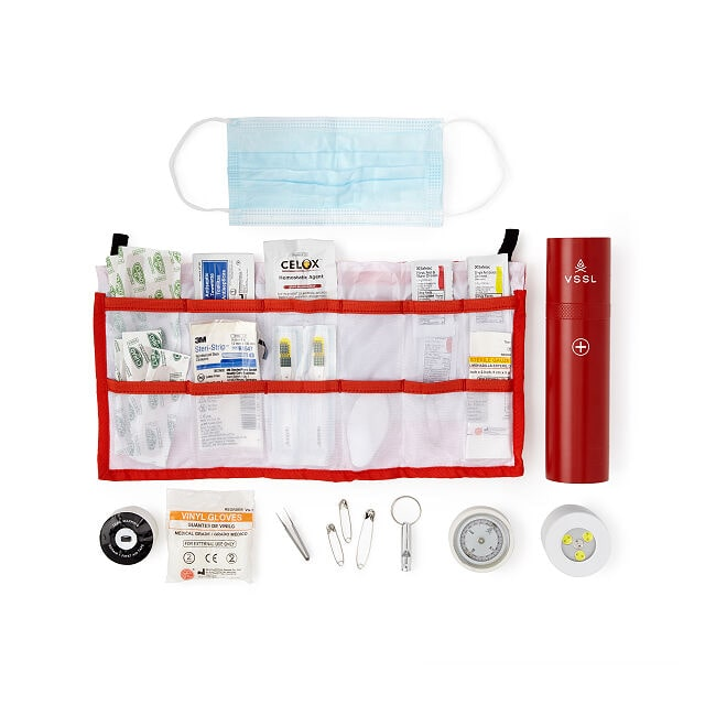 VSSL Essential First Aid Kit with Flashlight